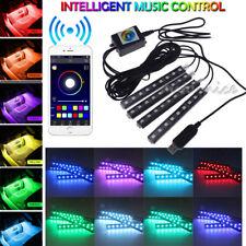 4PC 36LED RGB Car Interior Auto Under Dash Foot Seat Inside Light Remote Control