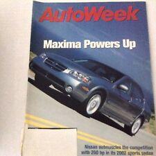 AutoWeek Magazine Nissan Maxima 2002 Sports Sedan July 9, 2001 061417nonrh