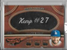 2011 Topps Glove Manufactured Leather Nameplates Black #MK Matt Kemp /99