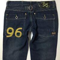 Ladies G-Star ELWOOD HERITAGE NARROW SLIM DARK BLUE jeans size W28 L32 (706c)