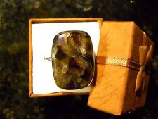 BEAUTIFUL COPPER AMETHYST SILVER .925 RING SIZE 8.5