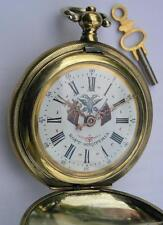 RARE+++ANTIQUE SWISS MADE KEY WIND POCKET WATCH-SYSTEME ROSKOPF MADE FOR ALBANIA