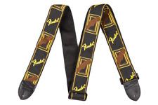 "Fender 2"" Monogrammed Strap - Black / Yellow / Brown"