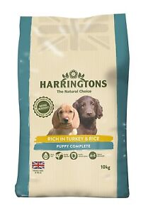Harrington's Puppy Dry Dog Pet Food Complete Rich In Turkey and Rice 10 Kg NEW