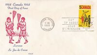 CFD26) Canada 1968 Lacrosse FDC