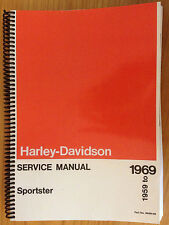 New Harley Davidson Sportster XL XLH XLCH 1959 to 1969 Service Manual FREE S&H