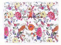 Indian White 1 Yard Hand Block Bird Print 100% Cotton Jaipuri Dress Fabric Craft
