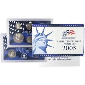 2005 S Proof Set U.S. Mint Original Government Packaging OGP Collectible