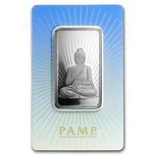 1-OUNCE - PURE 9999 SILVER - BUDDHA - PAMP SUISSE - SEALED BAR - $9.99 - AUCTION