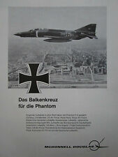 5/1971 PUB MCDONNELL DOUGLAS F-4 PHANTOM LUFTWAFFE BALKENKREUZ GERMAN AD