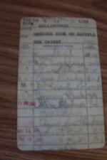 ELVIS PRESLEY ELVIS' LIBRARY CARD SIGNED REPLICA