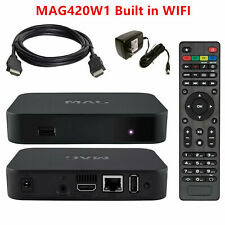 NEW 2020 MAG420W1 IPTV SET TOP BOX INFOMIR build-in wifi update for MAG254 256