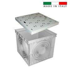 Pozzetto e coperchio chiusino pvc plastica grigio serie Ercole cm 70x70 H 65