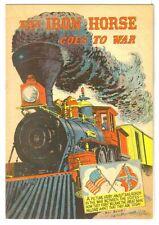 Iron Horse Goes to War! Civil War Railroads! 1960 Promo Comic Book ~ Vf