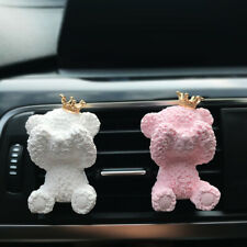 CUTE CROWN BEAR AROMATHERAPY CLIP VEHICLE AIR OUTLET FRESHEN PERFUME DECOR ORNAT