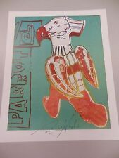 """ANDY WARHOL HAND SIGNED  PRINT IN BLACK PEN """"PARROT""""  1986 WITH COA"""