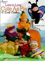 """Berenguer 5"""" Doll Clothes Crochet Pattern 7 Projects Rated Easy Berry Flower NEW"""