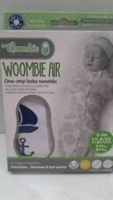 Woombie 5-13 lbs 0-3 month Swaddle WOOMBIE AIR Nautical Blue Newborn NEW