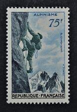 """Timbre de France neuf* avec trace de charnière n°1075 """"Alpinisme"""" - 1956"""