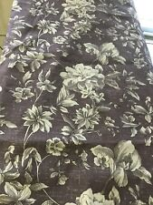 "PRETTY PLUM FLORAL DRAPES/CURTAIN PANELS,FULLY LINED,3"" ROD POCKET 84""L"