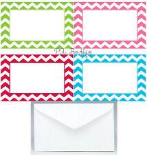 "40ct. ""COLORFUL CHEVRON"" Florist Blank Enclosure Cards w/ Small Envelopes Set"