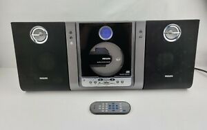 Philips Hi Fi CD Player AM FM Stereo BoomBox MC235B Detachable Speakers Remote