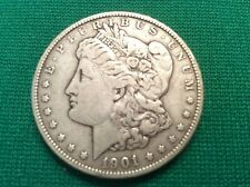 VERY RARE 1901 P Morgan Silver Dollar  Inherited from Grandpa's Coin Collection