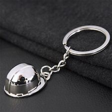 3D Metal Hard hat helmet Builder Keyring keychain novelty gift