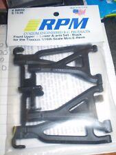 RPM Traxxas 1/16 E-Revo Black Front Upper & Lower Suspension A-Arms - 80692