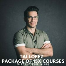 Tai Lopez Package Of 15X Courses |? Value $9999+