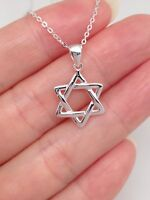 """925 Sterling Silver Star Necklace Star Station Pendant 5mm 16.5-18.5/"""""""