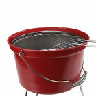 portable léger Camping Charbon SCEAU Gril PICNIC BBQ Barbecue Rouge