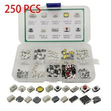 250 Values Tactile Push Button Switch Micro Momentary Tact Assortment Kit Smd