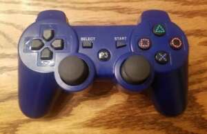 Aftermarket Sony PlayStation 3 Controller PS3 Blue Tested Working
