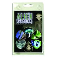Hot Picks Alien Invasion Guitar Picks 6 Picks Clamshell plectrums 1AIVRCS