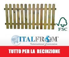 Steccato in Legno con Doghe di Pino - Dimensioni: L 180cm x H 80 cm Italfrom