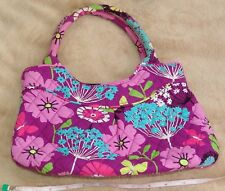 VERA BRADLEY GIRLS MINI TOTE Purse Bag FLUTTERBY Pleated Rolled Handles