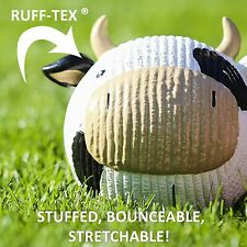 New listing Dog Puppy Chew Play Toy HuggleHounds Cow Black White Squeaker! Ruff-Tex New