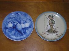 Vintage Lot of 2 Berlin Design Blue China Robin Redbreast Berta Hummel Der Klein