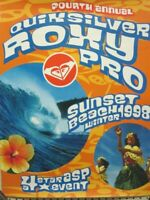 Quicksilver Roxy Pro Surf 1998 Sunset Beach,Hi promotional Poster New Old Stock