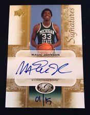 Magic Johnson 2011 UD All-Time Greats Signature 1/15 eBay 1/1 Auto