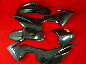 All Black CRF110 Plastics For Pit Bike. WBP LMX CW Upbeat.