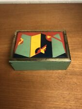 ORIGINAL GERMAN BAUHAUS AVANTGARDE ART DECO 1920 METAL BOX CIGARETTE ENAMEL