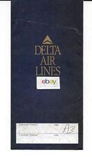 DELTA AIR LINES TICKET JACKET 1993 CITGO OIL & ALAMO RENT A CAR