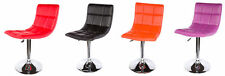 Faux Leather Adjustable Contemporary Stools Bars