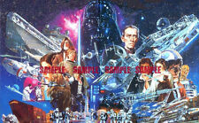 Star Wars 70's Vintage Edible Birthday Cake Topper 1/4 Sheet Icing Frosting
