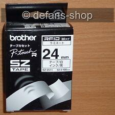 Brother P-touch tape SZ-2511 30x RFID schwarz auf weiß 24mm x 53,5-100mm RL-700S