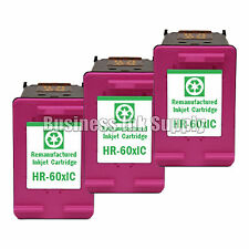3 Color HP 60XL ink cartridge for PhotoSmart C4600 C4635 C4685 C4780 C4700 C4740