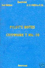 DE HAVILLAND CANADA DHC-1 CHIPMUNK T.Mk.10 PILOTS NOTES