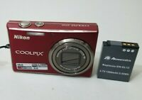 Nikon COOLPIX S710 14.5MP Digital Camera - Deep red *GOOD/TESTED*